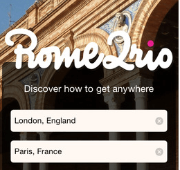 Travel Planning Apps - Rome2Rio