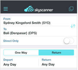 Travel Planning Apps - Skyscanner