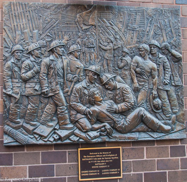 New York fire station memorial plaque